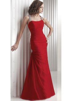 Longo Vermelho Cabeçada Chiffon Atado Vestido Formatura (3AJ0025)