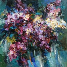 Buy Lilac bouquet - 70 x 70 cm - Original oil painting, Oil painting by Anastasiya Valiulina on Artfinder. Discover thousands of other original paintings, prints, sculptures and photography from independent artists.