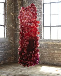 Red Cell No. 1   by Modern Fiber Lab - Sonya Yong James
