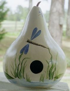 Hand Painted Bird House Gourds<3