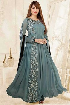 Looking for a pretty anarkali suit? Buy latest anarkali suits online from the huge collection of Indian anarkali suits on Utsav Fashion. Anarkali Dress, Anarkali Suits, Pakistani Dresses, Stylish Dress Designs, Stylish Dresses, Fashion Dresses, Bollywood Outfits, Bollywood Fashion, Indian Wedding Outfits