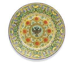 A porcelain plate from the Kremlin service, Imperial Porcelain Manufactory, period of Nicholas I (1825-1855) - Sotheby's