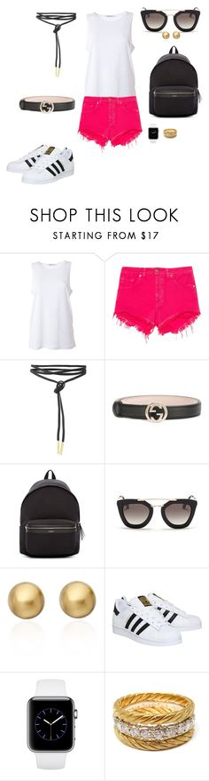 """Sem título #2130"" by analuli on Polyvore featuring moda, T By Alexander Wang, Animale, Gucci, Yves Saint Laurent, Prada, Astley Clarke, adidas e Buccellati"