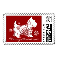 Snowflake Scotty Dog Christmas Postage - must get for next Christmas!