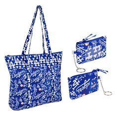 Los Angeles Dodgers Fabric Tote & ID Set