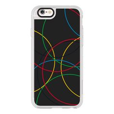 Olympic Rings Design in black - iPhone 7 Case, iPhone 7 Plus Case,... ($40) ❤ liked on Polyvore featuring accessories, tech accessories, iphone case, iphone cover case, apple iphone cases, iphone cases and iphone hard case