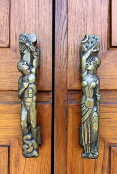 """Prometheus and Agamemnon"" door handles  via Louisville Art Deco - Feature - Lee Lawrie"