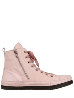 ANN DEMEULEMEESTER  NABUCK LEATHER SNEAKERS