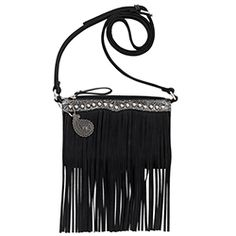 Shop for Bandana Women's Sun Valley Fringe Crossbody/Wallet Black/Embossed Black and Silver - US Women's One Size (Size None). Get free delivery On EVERYTHING* Overstock - Your Online Handbags Outlet Store! Fringe Crossbody Bag, Crossbody Wallet, Black Crossbody, Purse Wallet, American West Handbags, Crazy Train Clothing, Concealed Carry Bags, Women's Bandanas, Fringe Handbags
