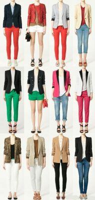 Multiple blazer outfit ideas
