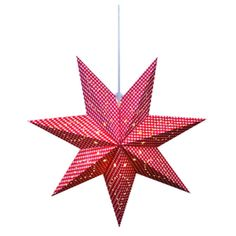 Red Gulli Advent Hanging Star Light ($25) ❤ liked on Polyvore featuring home, home decor, holiday decorations, red home accessories, star home decor, red home decor and holiday window decorations