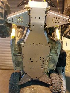 Buy Can-Am Maverick Full Belly Skid Plate System by EMP Extreme Metal Products Online, Fast Shipping! Side By Side Accessories, Utv Accessories, Polaris Ranger Crew, Extreme Metal, Polaris Rzr, Can Am, Go Kart, Outdoor Fun, Cool Toys