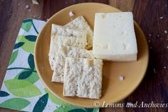 Sea Salt and Pepper Crackers: Perfect! Though she's not kidding about rolling them out thin as possible.