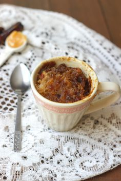 Sticky date pudding in 2 minutes! This date pudding in a mug ticks all the boxes, it's naturally sweet, filling and gluten & dairy free. It is even self...