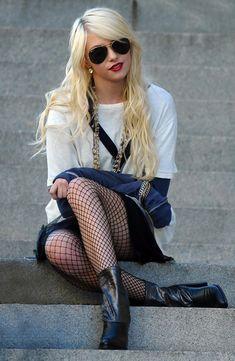 Steam Punk, Taylor Michel Momsen, Estilo Gossip Girl, Jenny Humphrey, Beauté Blonde, Gossip Girl Fashion, Mein Style, Black Tights, Sexy Legs