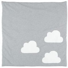 Tappeto da gioco grigio nuvole bianche