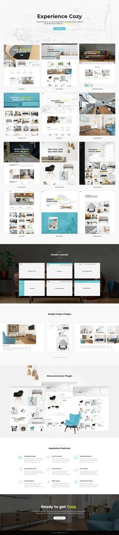 Stay cozy and build a supreme website with Cozy, interior design, décor & architecture WordPress theme. Beautiful looking and easy to set up, Cozy has covered all you need for a website that stands out. Interior Design Themes, Interior Design Studio, Ux Design, Layout Design, Portfolio Layout, Portfolio Design, Creative Portfolio, Wordpress Theme, Creative Architecture