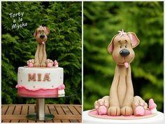 cute dog cake topper