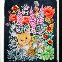 Instagram media piahultin - Fr Blomster Mandala by Maria Trolle.  @mariatrolle #mariatrolle #blomstermandala #flowermandala