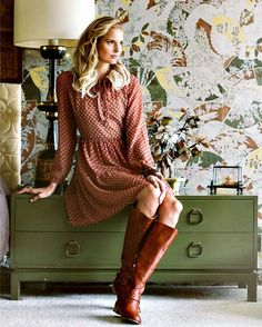 Vintage style fall dresses
