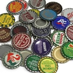 Vintage Flattened Bottle Caps website for buying bottle caps to do the bottle cap backsplash in the kitchen