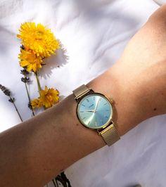 Wood Watch, Catcher, Jewellery, Eye, Stone, Green, Summer, Gold, Accessories