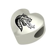 Alabama Birmingham Blazers Sterling Silver Heart Bead Fits European Style Charm Bracelets * Nice of your presence to have dropped by to visit our image. (This is an affiliate link) University Of Alabama Birmingham, European Fashion, European Style, Pandora Style Charms, Fine Jewelry, Charmed, Blazers, Sterling Silver, Crystals