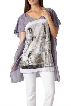 Boo Radley Graham Cotton Silk Tunic - Womens Shirts at Birdsnest Women's Fashion