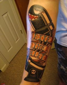 New Ink Video Game Tattoo On Lower Arm
