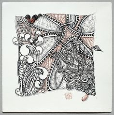 Maria.  Opus tile is Zentangle tile of grand proportion and measures 10.5 inches (27 cm) square