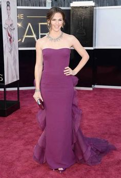 Jennifer Garner  Com vestido Gucci Premier.
