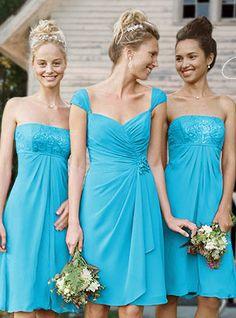 The middle dress is the one I want for the bridesmaid's dresses #bridalparty #bridesmaids #malibu