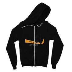 Motocross Orange and Black Fine Jersey Zip Hoodie