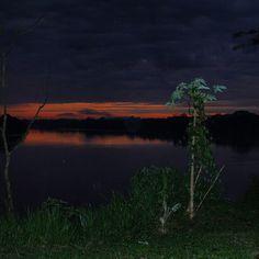 Pascaline @cornalinangel Instagram photos   Sunrise first lights on Rio Madre de Dios in Amazonia around 5am.
