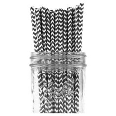 Bring a pattern pop to barware and party favors with these eco-friendly straws, showcasing a chevron motif.