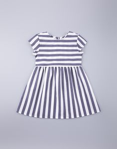 $30 Nautical Summer Dress for Girls with blue and white stripes Nautical Summer Dresses, Gathered Skirt, Kids Clothing, Striped Dress, Cap Sleeves, Kids Outfits, Girls Dresses, Blue And White, Stripes