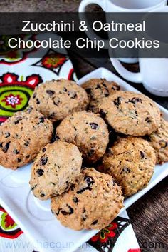 Zucchini & Oatmeal Dark Chocolate Chip Cookies Recipe.  love zucchini and chocolate chip cookies, so why not combine the 2 into a delicious treat?