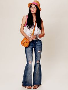 They're out of my size - boo!  Free People Double Weave Destroyed Flare, 39.95