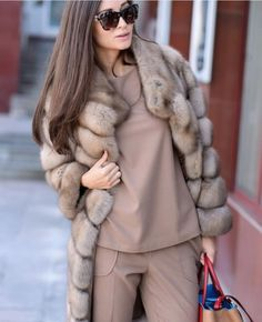 Bleached Russian Sable Fur Coat