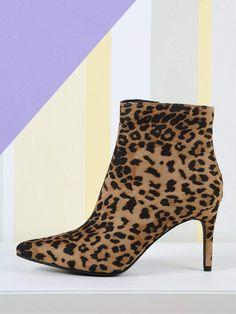2c8090c03fd7 Pointy Toe Side Zip Leopard Booties. Leopard BootsLeopard Print ShoesPointy  BootsPointed Toe HeelsPump ShoesShoe BootsWomen's ShoesBoot CampFashion  Boots