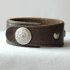Leather Man Cuff Bracelet with Studs and Western by Studio1070, $24.00