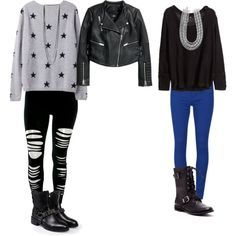 """""""inspired with leggings and sweaters"""" by effy-stonem-style on Polyvore"""