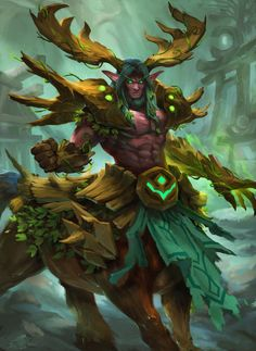 Cenarius, Lord of Forrest by thiago-almeida.deviantart.com on @DeviantArt