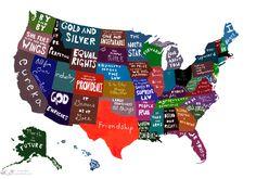 Kansas will always be my favorite/ U.S. Motto Map
