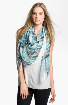 Tarnish 'Blocks of Color' Scarf available at #Nordstrom ..really love this scarf, in every COLOR!
