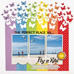 fly a kite by stacy cohen from scrapbook & cards today
