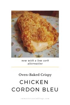 This #ovenbaked recipe is wonderful for turning those leftover deli lunch ham and cheese into a drool-worthy dinner! No need for a deep fryer, I have a tip to make this dish super crispy from baking in the oven. And I've included a low carb alternative (Shown in the photo!) #lowcarb #chickendinner #cheese #crispy #dinner #leftover #foodie #foodblogger #pickyeaterfriendly #alternativeflour #glutenfreeflour Low Sugar Recipes, No Sugar Foods, Good Food, Yummy Food, Fun Food, Great Recipes, Favorite Recipes, Carb Alternatives, Deep Fryer