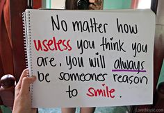 your someones reason to smile positive quotes quote happy life quote happy quote
