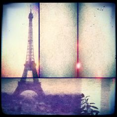 Paris. Photocollage of the wallpaper on my room