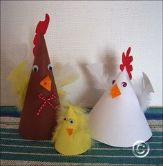 Paper chickens